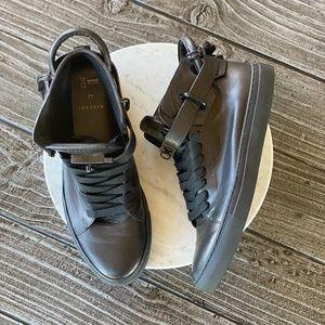 Men's BUSCEMI Matt BLK Leather High Top Sneakers